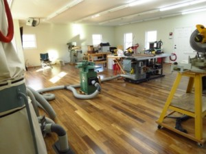 wood floor compressed